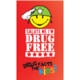 """Salute Me I'm Drug Free - Drug Facts for Kids"" Trifold Card"