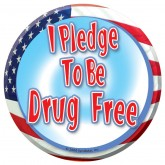 """I Pledge to be Drug Free"" Stickers"