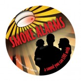 """""""Smoke Alarms: A Sound You Can Live With"""" Sticker"""