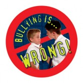"""Bullying is: Wrong"" Removable Tattoo"