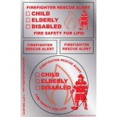 Firefighter Rescue Alert Sticker