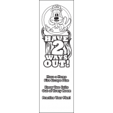 """Have 2 Ways Out"" Color-Me Bookmark"