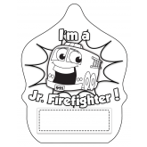 """Stock Color-Me """"Stretch Jr. Firefighter"""" Fire Hat"""