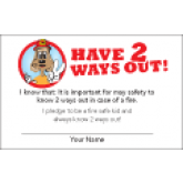 """Have 2 Ways Out"" Pledge Card"