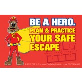 """Fire Ready Every Day with Firefighter Ace"" Pledge Card"