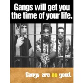 """Gangs Will Get You The Time Of Your Life"" Laminated Poster"