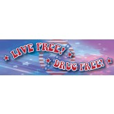 Live Free! Drug Free! Bookmark