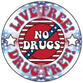 Live Free! Drug Free! Removable Tattoo