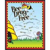 Bee Drug-Free! Laminated Poster