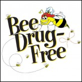 Bee Drug-Free! Removable Tattoo