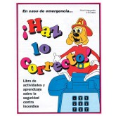 """""""Red's-In An Emergency...Do the Right Thing"""" Activity Book     SPANISH Version"""