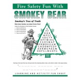 """Fire Safety Fun with Smokey Bear"" Activity Sheet"