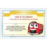 """""""Stretch's Prevent Home Fires"""" Certificate"""
