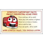 """""""Stretch's Prevent Home Fires"""" Membership Card"""
