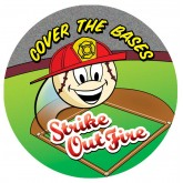 """Cover the Bases: Strike Out Fire"" Sticker"