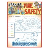 """Team Up for Fire Safety"" Activity and Coloring Sheet"
