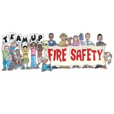 """Team Up for Fire Safety"" Banner"