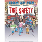 """Team Up for Fire Safety"" Poster"
