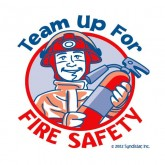 """Team Up for Fire Safety"" Removable Tattoo"