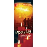 """""""Candles With Care: When You Go Out, Blow It Out!"""" Pamphlet     SPANISH Version"""