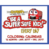 Stretch the Ladder Truck's Color-Me Fire Safety Calendar
