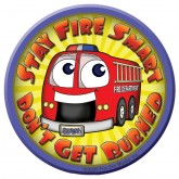 """Stay Fire Smart - Don't Get Burned!""  Sticker"