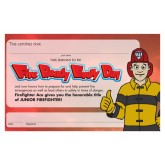 """Fire Ready Every Day with Firefighter Ace"" Certificate"