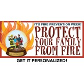 """Protect Your Family From Fire"" Banner"