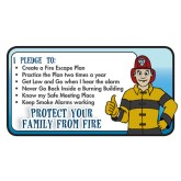 "Ace's ""Protect Your Family From Fire"" Pledge Card"