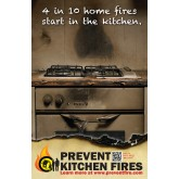"""Prevent Kitchen Fires"" Poster"