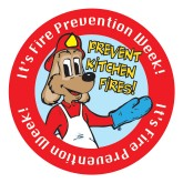 """ Prevent Kitchen Fires"" Sticker"