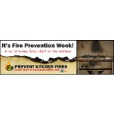 """Prevent Kitchen Fires"" Banner"