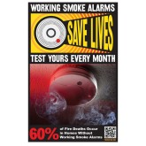 """Working Smoke Alarms Save Lives"" Poster"