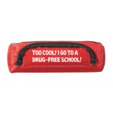 """Too Cool! I Go to a Drug-Free School"" Deluxe Zipper Pouch"