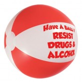 """Have A Ball! Resist Drugs & Alcohol"" Beachball"