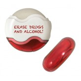 """Erase Drugs and Alcohol"" Pencil Sharpener and Eraser"