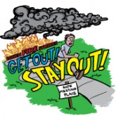 """Get Out! Stay Out!"" Removable Tattoo"