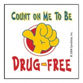 Count On Me To Be Drug-Free Removable Tattoo