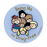 Being Me and Drug Free! Sticker