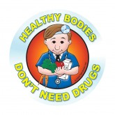 Healthy Bodies Don't Need Drugs Sticker