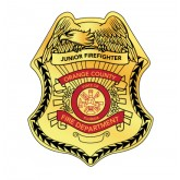 Custom Junior Firefighter Stick-on Foil Badge