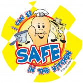 """Red's I Can Be Safe in the Kitchen!"" Sticker"