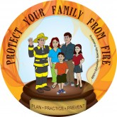 "Ace's ""Protect Your Family From Fire"" Sticker"