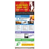 """Look. Listen. Learn. - Be Fire Ready Every Day"" Presentation Display (adult)"