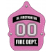 Stock Pink Jr. Firefighter Leather Fire Hat
